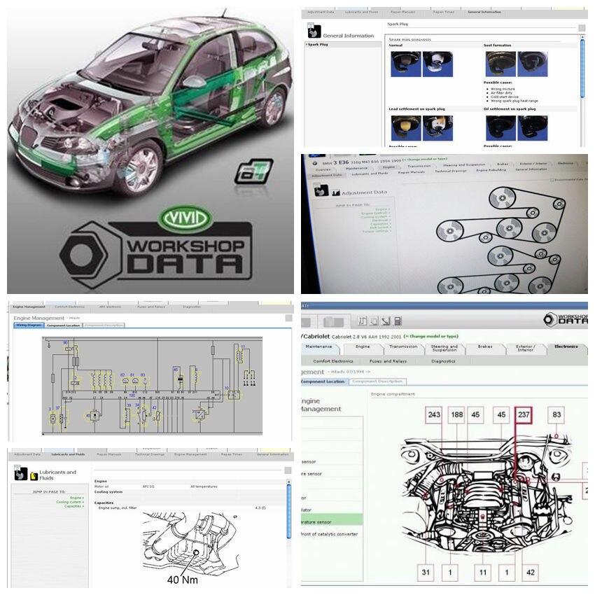 2020 Newest Auto Software Vivid Workshop Data 10.20 Maintenance Car Wire Diagram Car Service 10.2 Data To 12v Automotive Repair