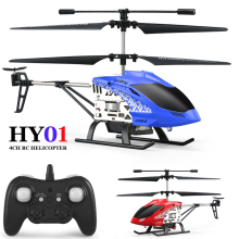 HY01 RC Helicopter 4 CH 4 Channel Mini RC Drone With Gyro Crash Resistant Remote Control Helicoptero Gift Toys for Children