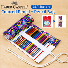 цены Faber-Castell 36/48/72 Colored Pencils Lapis De Cor Professional Artist Painting Oil Color Pencil For Drawing Sketch Supplies