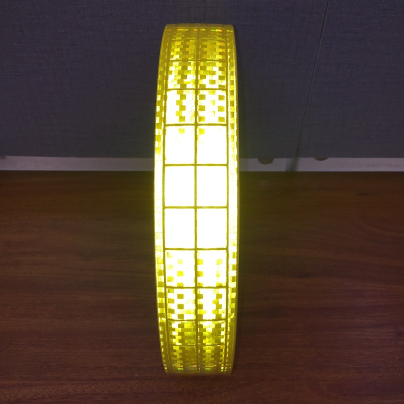 5CM*100M Microprism PVC Reflective Fluorescent Warning Tape Sewn For The Clothing