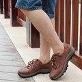 Verano de los Hombres Respirables de Cuero de Grano completo Botas RELIKEY Zapatos de Marca Tamaño Grande de Calidad Superior Clásico Retro Botas Causales para Hombres