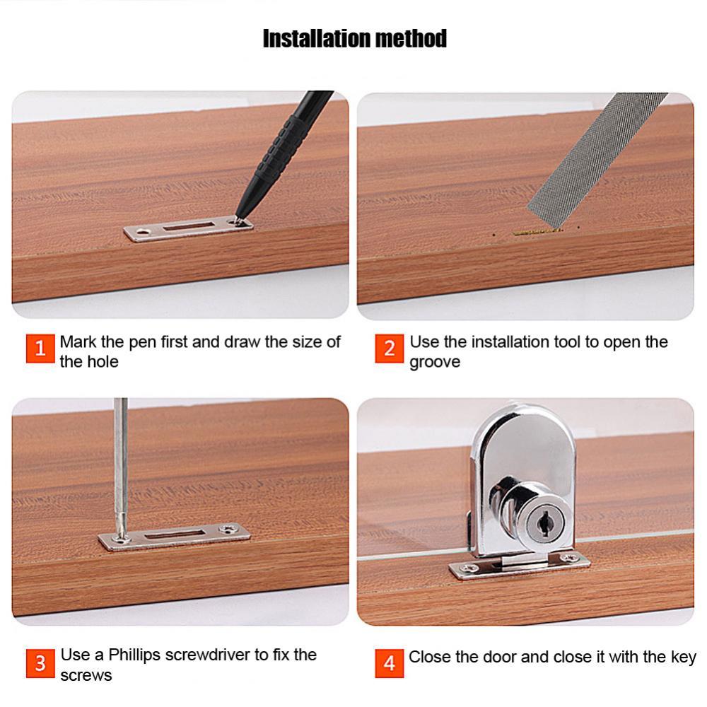 Zinc AlloyDrawer Locks with Keys Lock Furniture Hardware Door Cabinet Lock keep Safty and Security with Keys Office Home 13