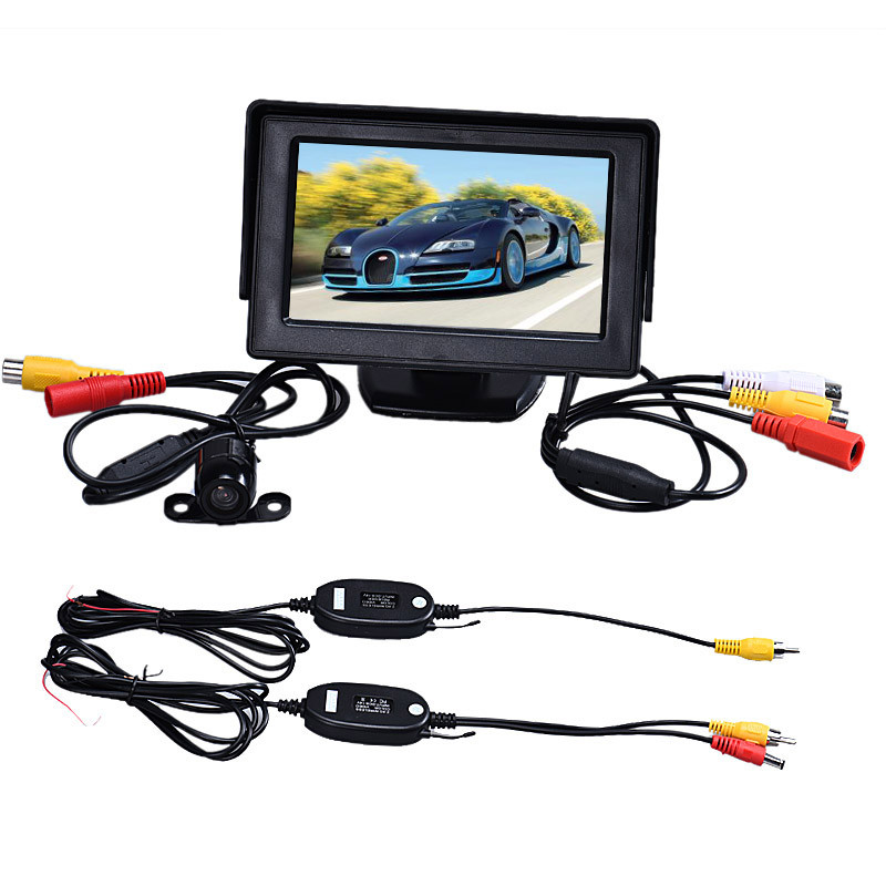 Camera Lcd-Monitor Car-Accessories Rearview Back-Up TFT Car-Styling Wireless-Kit