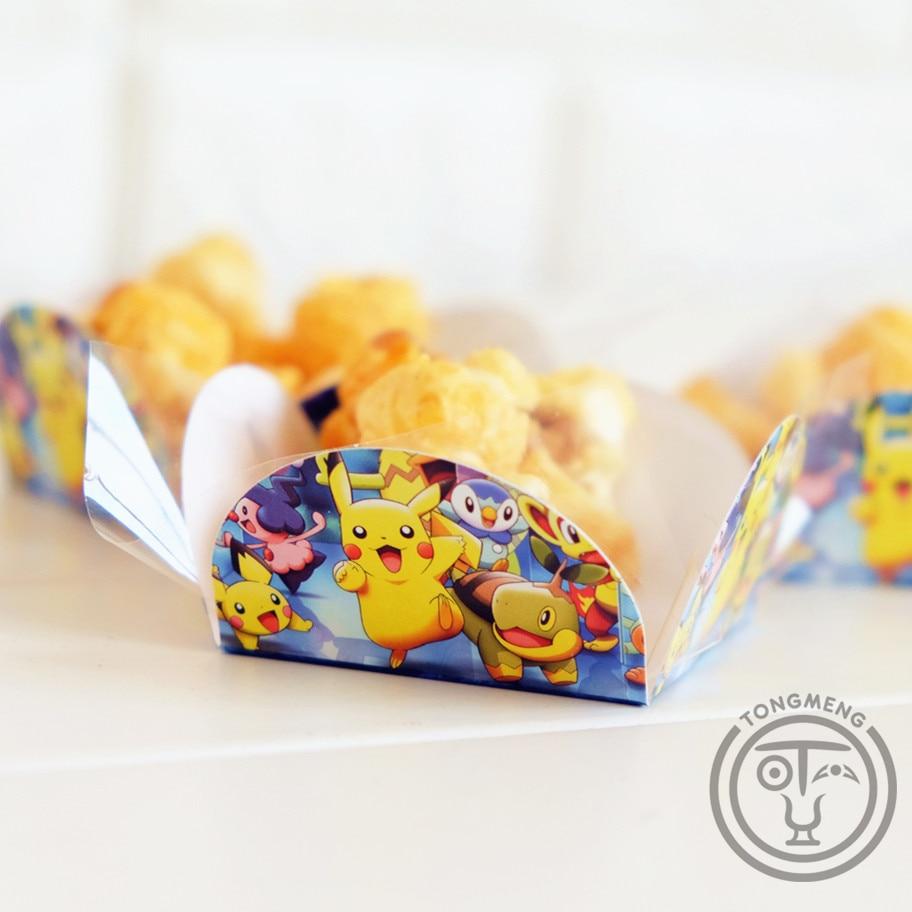 50pcs/lot Pokemon Go Pikachu Kids Birthday Party Decoration Supply Cake Wrapper Chocolate Candy Box Orminhas Para Doces AW-0525