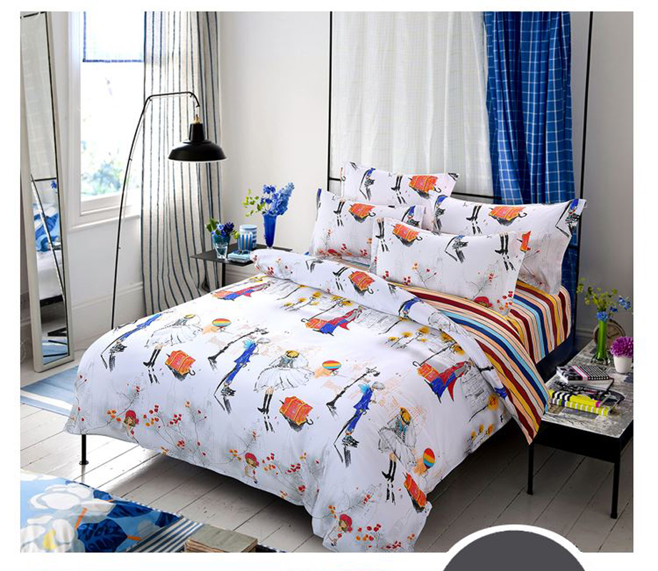 UNIHOME HOT Promotion !Free Shipping Reactive Printing Bedding Set duvet cover set Bed linen Sheet