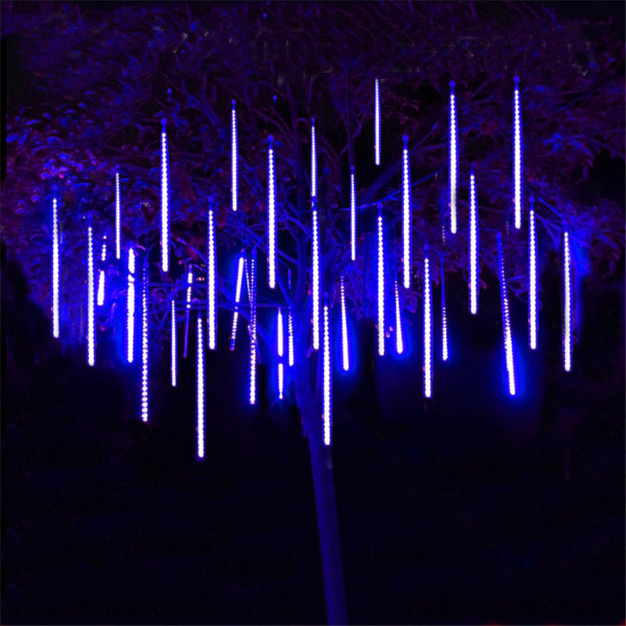 Thrisdar-30CM-50CM-Meteor-Shower-Rain-Tubes-String-Light-8-Tube-LED-Falling-Snow-Christmas-Tree