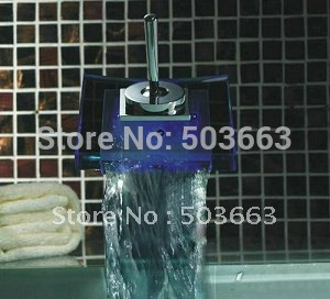 Красивый большой водопад кран Батарея питание Chrome бассейна мойки Ванная комната коснитесь cm0830