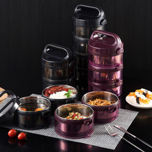 ONEUP Stainless Steel Multi-layer Heat Preservation Lunch Box Business Thermos Bento Boxes Food Storage Container School Office
