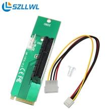 Pci-express PCI Express PCI-E 4X Femelle x4 à NGFF M.2 M Clé Réseau Adaptateur Convertisseur Carte