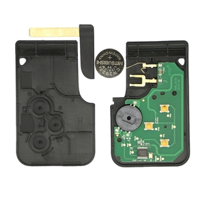 Image 3 - OkeyTech 3 Button 433Mhz ID46 PCF7947 Chip with Emergency Insert Blade Smart Remote Key For Renault Megane Scenic 2003 2008 Card