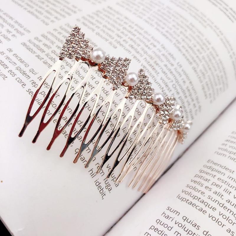 9 Estilo Moda Mujeres Rhinestone Simulado-perla Peinetas Boknot Wave - Accesorios para la ropa