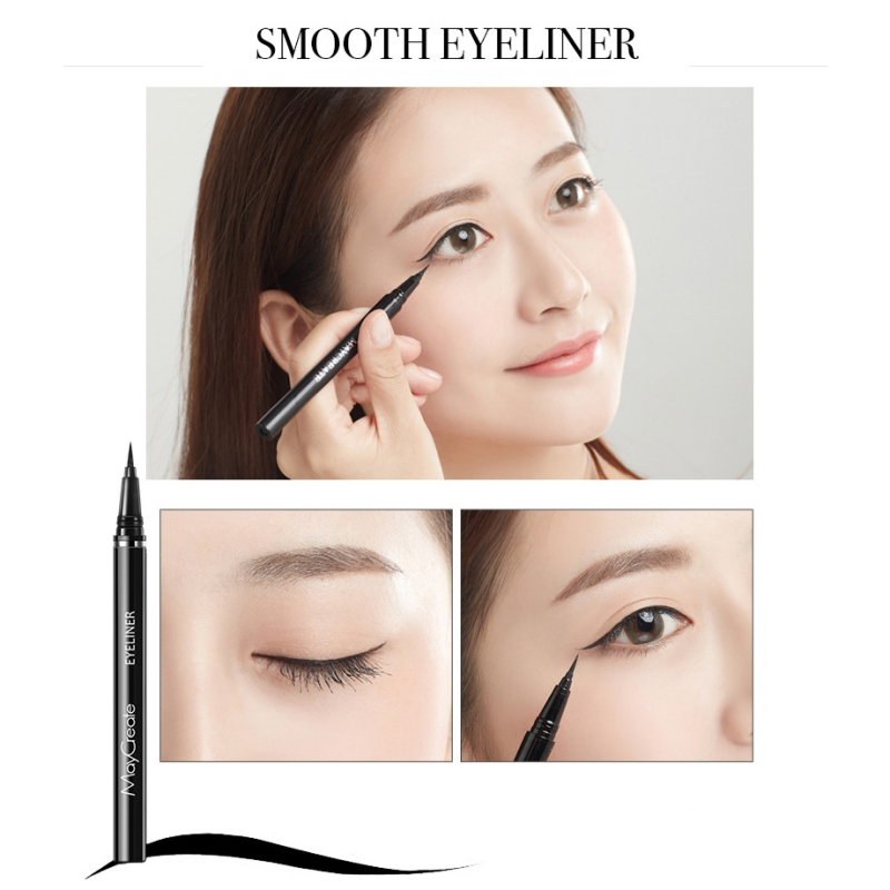 24 Hours Waterproof Eyeliner Water Resistance Smudge proof Long Lasting Quick Drying Liquid Eyeliner in Eyeliner from Beauty Health