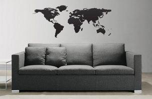 World Map Globe Earth Country wall vinyl font b sticker b font font b custom b