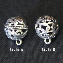 Этнический стиль полый старинный серебряный кулон металлические