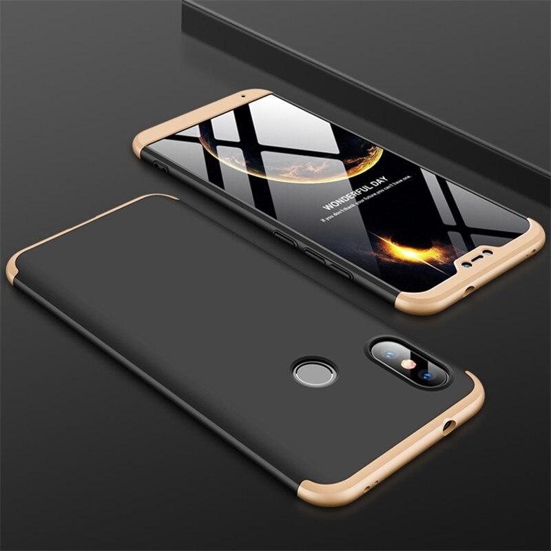 3-in-1 Case 360 for Xiaomi Mi A2 A3 lite Mi A2 A1 Phone Case Hard for Xiaomi Mi A1 A2 A3 Cover Tempered Glass Case Fully Cover