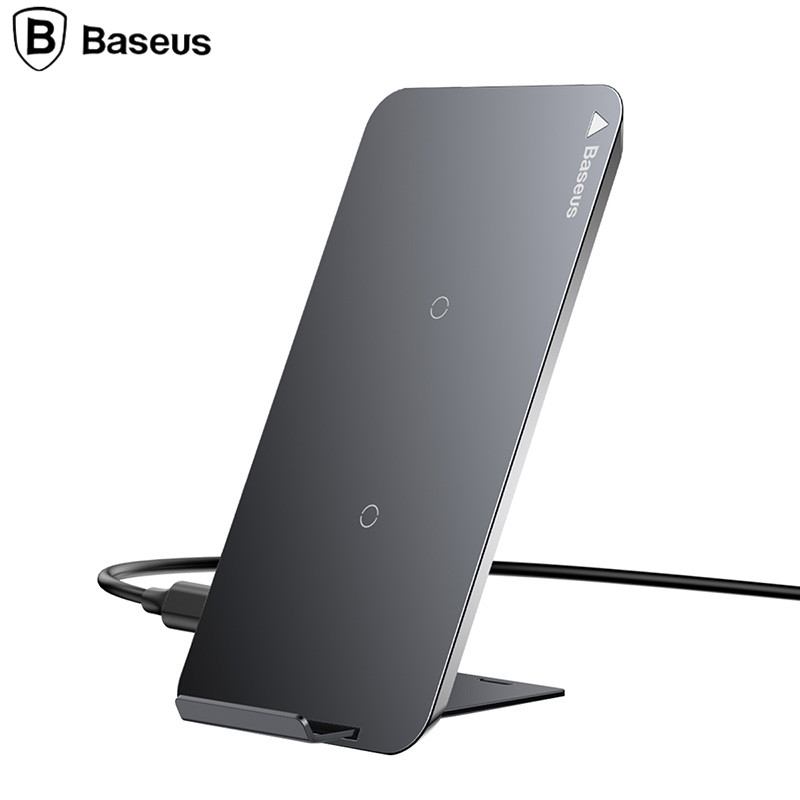 S8 Plus//Bordo S7 S7// Note 8// Note 5 8//8 Plus,Samsung Galaxy 8// S8 Baseus Caricatore Wireless Auto Caricabatteria Wireless Veloce per Auto Supporto 360/° Girevole con Base di Carica per iPhone X