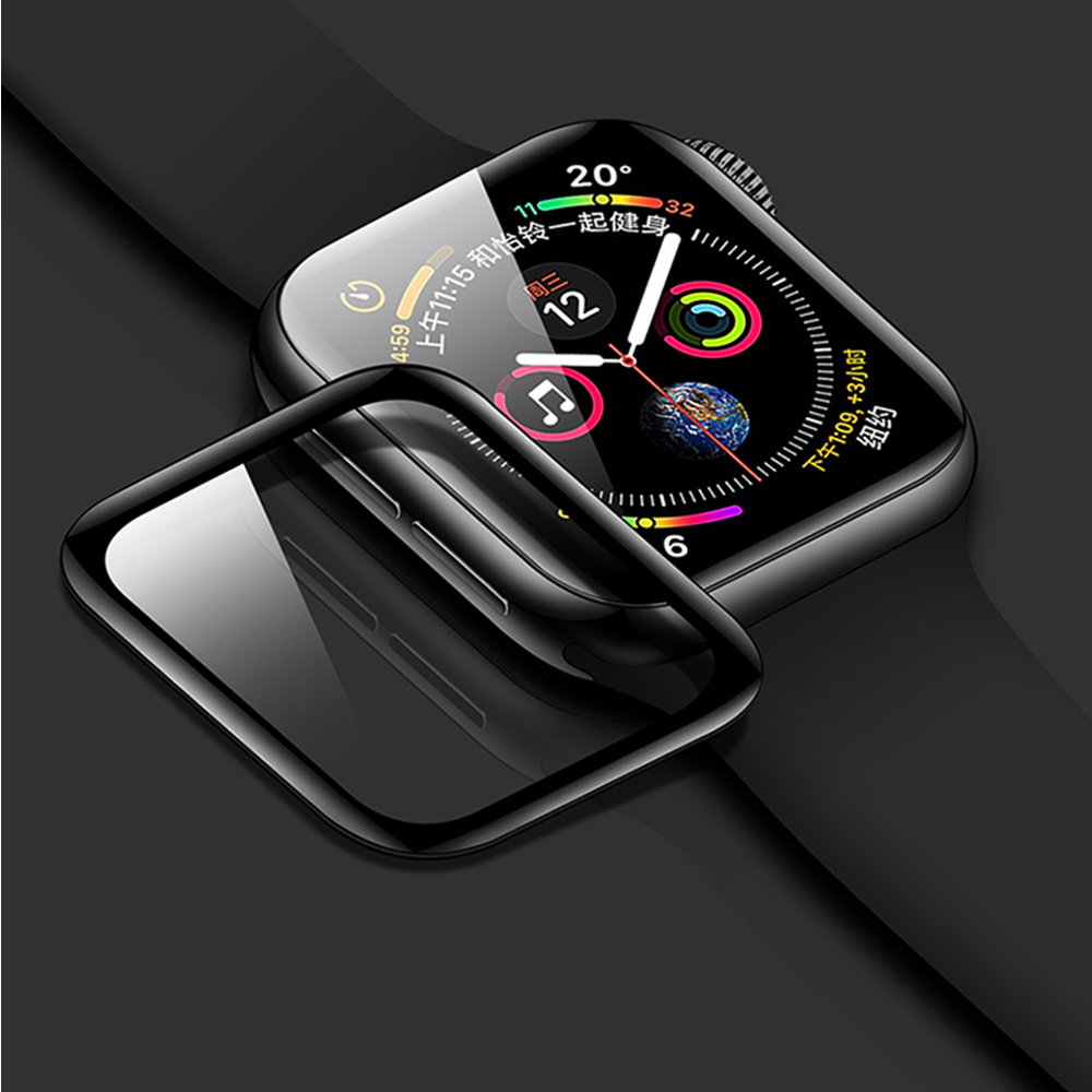 3D Curved Glass For Apple watch case 44mm 40mm 42mm 38mm iwatch 5 4 case Screen Protector Tempered Glass watch film Accessories
