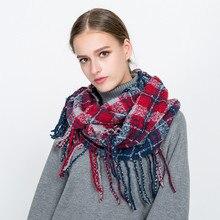 2018 luxury brand autumn women fashion hijab scarf foulard femme cashmere