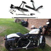 Foot pegs Forward Controls For Harley Sportster 1200 883 Iron XL883N XL883L Superlow 2004 2013 Footrest Foot rests Complete Kit