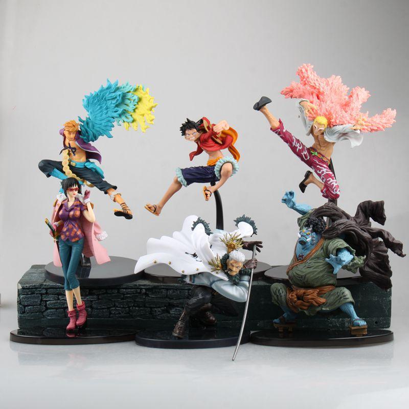 One Piece Pvc Action Figures Collection Model Monkey D In Quality Luffy Smoker Tashigi Doflamingo Marco Jinbe Anime Toys Decoration Wx293 Excellent