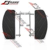 Para honda steed 400/600 vlx400/600 frente da motocicleta modificado pedal pé pegs apoio para os pés apoio para os pés um par