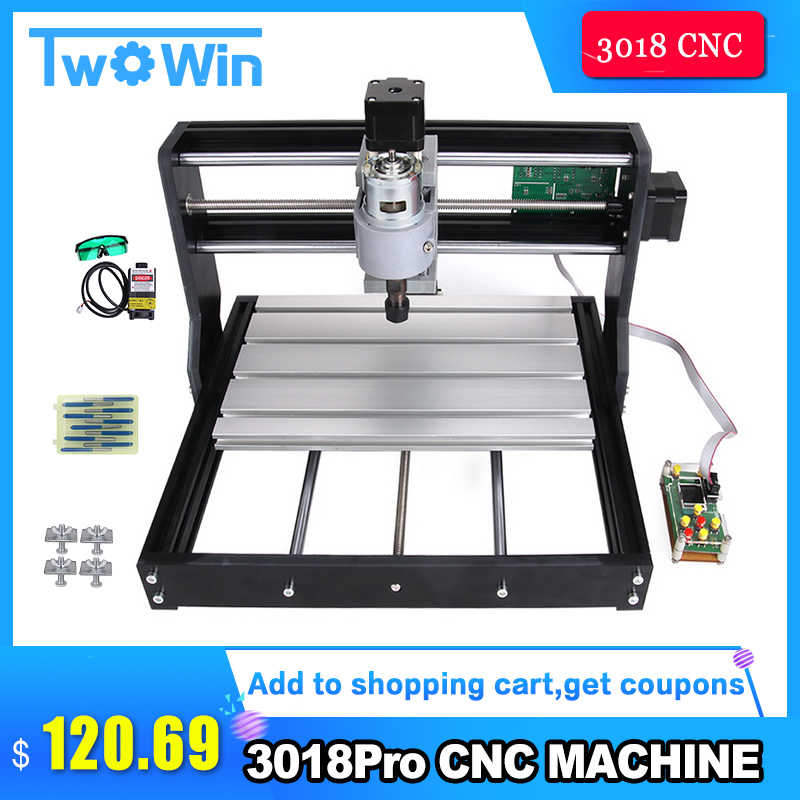CNC 3018 Pro GRBL control Diy mini cnc machine 7w,3 Axis pcb Milling  machine,Wood Router laser engraving,with offline controller