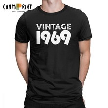 Vintage 1969 50 Years Old 50th Birthday Gift T Shirt For Male Round Neck Cotton