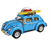 цена на New Hot Creators Expert Volkswagen Beetle Car Model Educational Building Blocks Sets Bricks Children Toys