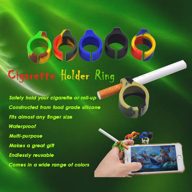 New Design Silicone Ring Finger Hand Rack Cigarette Holder For Regular smoking Accessories Gift.Color Random