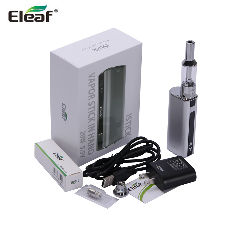 Original Eleaf iStick 20W GS Air Kit Premium Kit 2.5ml GS-air Atomzier with iStick 20W Battery Full Kit цена