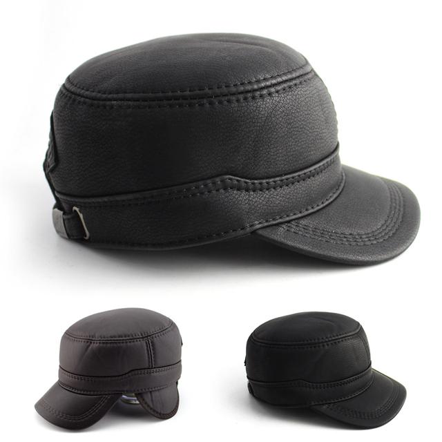 BFDADI Chapéu de Alta Qualidade para Homens Lether Simples confortável Pico Chapéu do Snapback do Boné de Beisebol Primavera e No Outono Frete Grátis