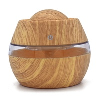 USB Ultrasonic Humidifier 300ml Aroma Diffuser Essential Oil Diffuser Aromatherapy Mist Maker LED Light Wood Grain