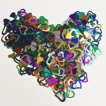 3200 шт многоцветный любовь конфетти в форме сердца Свадебные мерцание Разбрасыватели конфетти для стола Valentine Декорации для вечеринки на день рождения