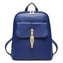 Новинка 2017 г. Высокое качество женщины рюкзак известная марка леди PU кожаная сумка подросток студент девочек школьная сумка модные женские Твердые Сумка