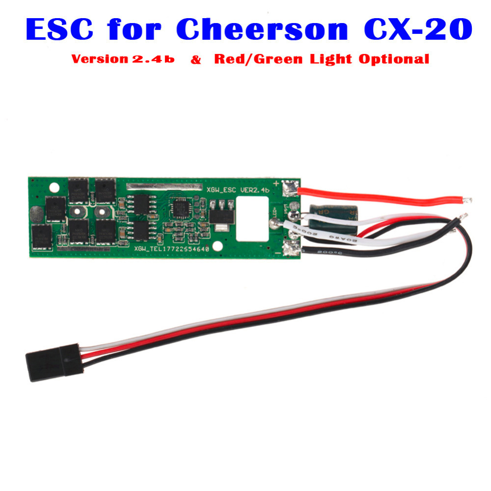 Version: 2.4b ! Original ESC Control System for Cheerson CX-20 CX20 RC Quadcopter Spare Parts Red Green Light Optional cheerson cx 20 cx20 rc quadcopter parts receiver board cx 20 007