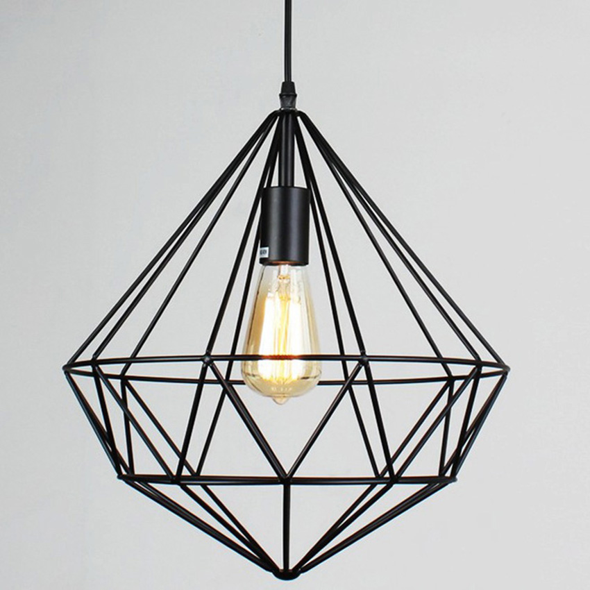 vintage ceiling cage safety guard bulb pendant hanging lampshade shade wire country light trouble lamp