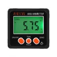 Nuevo Mini Digital Protractor inclinómetro caja de nivel electrónico medidor de ángulo aleación de aluminio Base magnética herramientas de medición