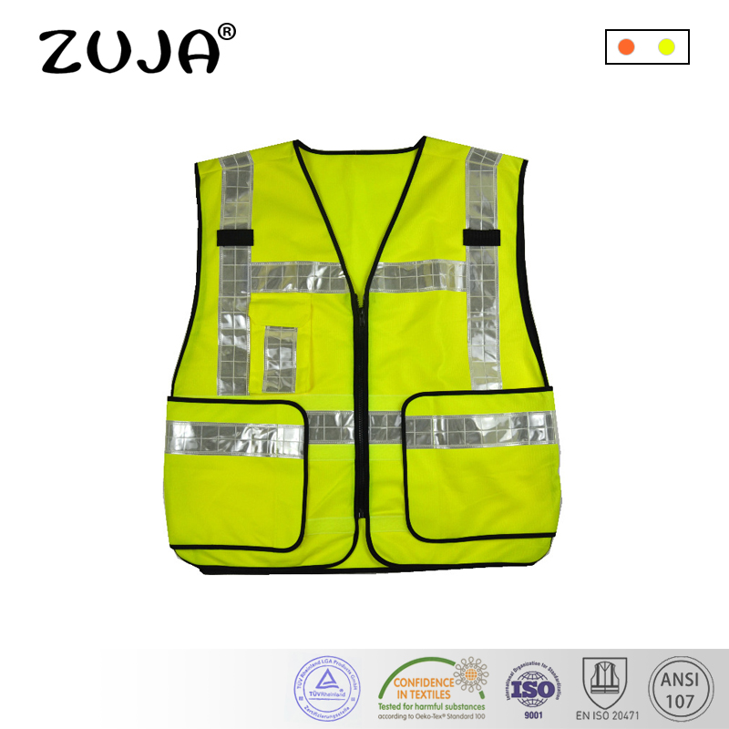 High Reflective Break Away Adjustable White PVC tape Safety Vest One Pocket игровой комплекc perfetto sport milano кольца