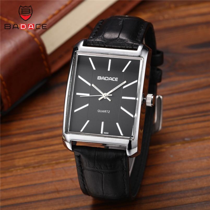 192048891b9 ... Homens de Luxo Água dos Clássico Badace da Marca de Quartzo Relógios  Pulseira Couro à Prova d  Água Relógio Pulso dos Homens Clássico Ouro  Masculino ...