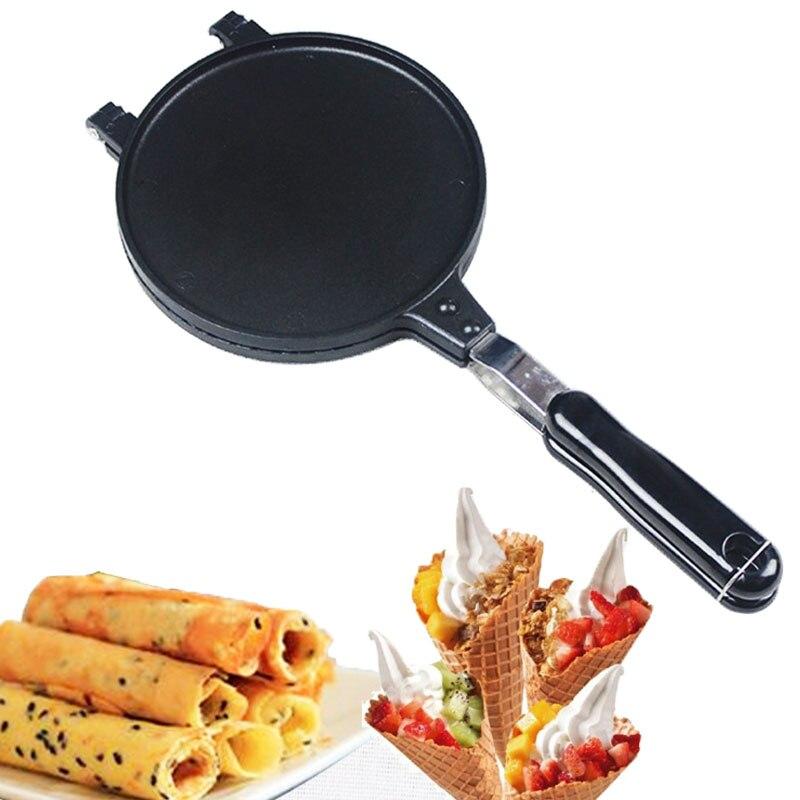 DIY Oeuf Gaufre Pan Non-Bâton Pan Gâteau Croustillant Egg Roll Ustensiles de Cuisson Omelette Crêpe Cuisson Pan pour La Cuisson Outils petit