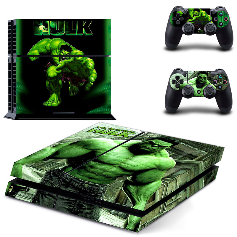 The Avengers Iron Man Hulk Spiderman PS4 Skin Sticker Decal For Sony PlayStation 4 Console and 2 Controllers PS4 Skins Sticker in Stickers from Consumer Electronics