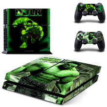 The Avengers Iron Man Hulk Spiderman PS4 Skin Sticker Decal For Sony PlayStation 4 Console and 2 Controllers PS4 Skins Sticker цена 2017