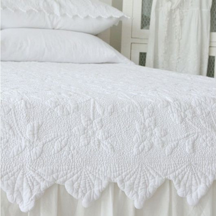 Quilt Tagesdecke 100%cotton European Style Solid Color Full Queen King Size