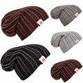 Winter Men Women Knit Beanie Reversible Slouch Skull Chunky Baggy Cap Unisex Hat