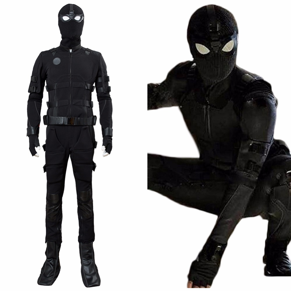 Spider-Man Noir Cosplay Avengers Costume Spiderman 2 loin de la maison Peter Parker Cosplay furtif Costume adulte Halloween