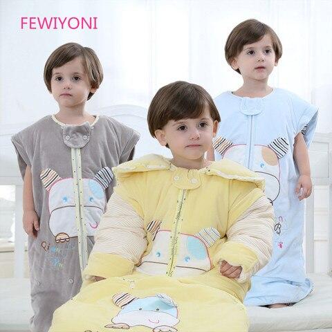 fewiyoni bebe saco de dormir inverno kick proof colcha criancas saco de dormir primavera e