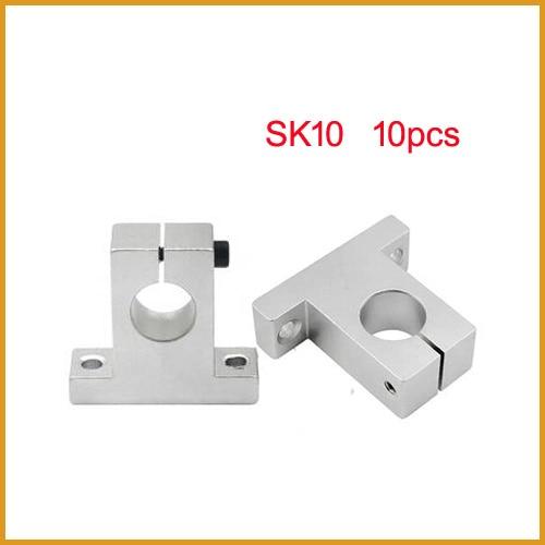 10 Teile/los Freies Verschiffen Sk10 10mm Linear Lager Schiene Welle Unterstützung Tisch Cnc Router Sh10a Ein BrüLlender Handel