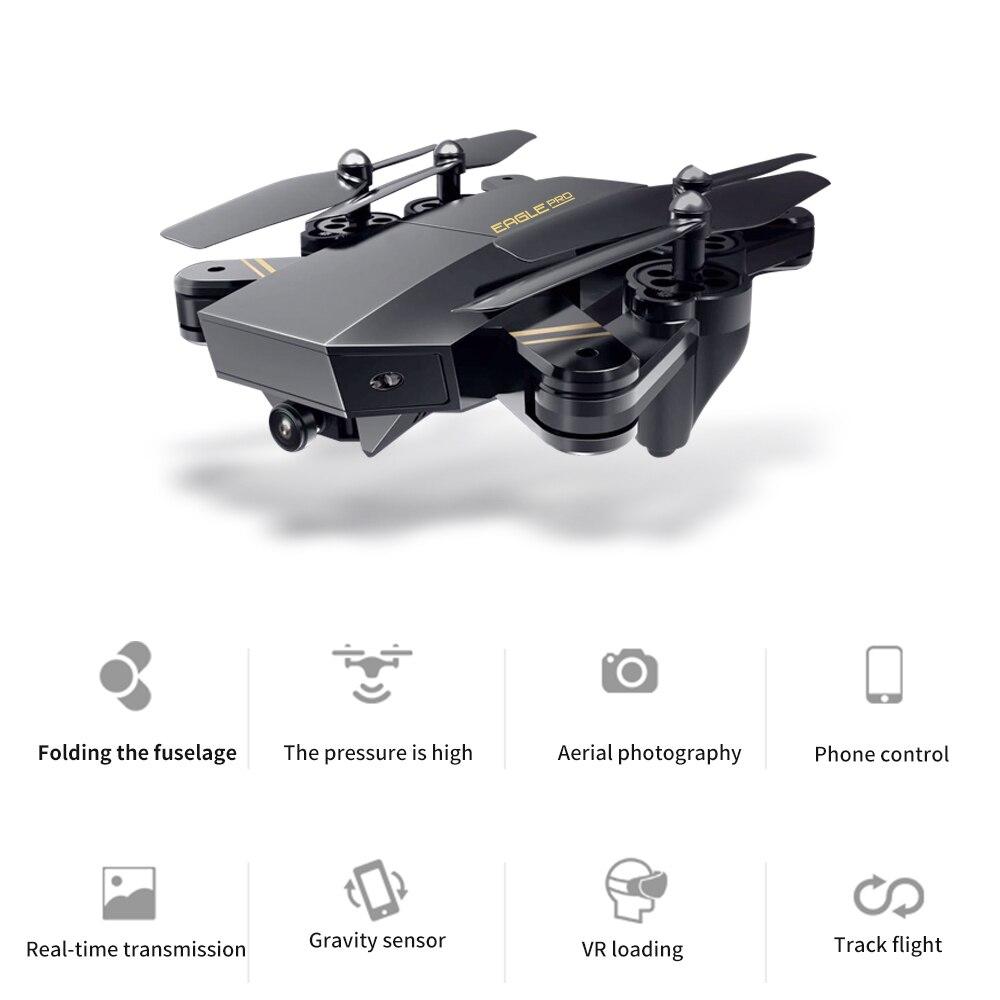Professionnel Intelligente Pliage Drones Wifi FPV Fixe Haute 480 p/720 p HD Caméra Stable Cardan Sans Tête Mode Quadcopter