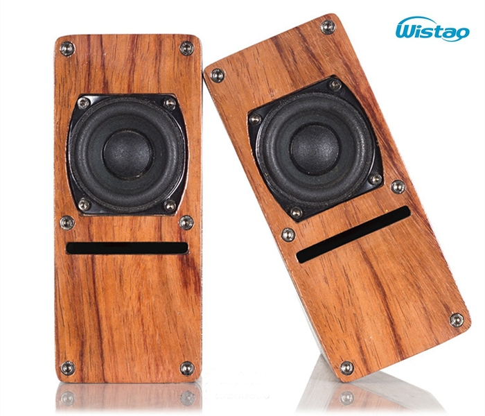 IWISTAO HIFI Speaker 2 Inch Full Range Labyrinth Structure Wooden 2 X 10W 4 ohm 84dB Rosewood Color 1 Pair Stereo Audio
