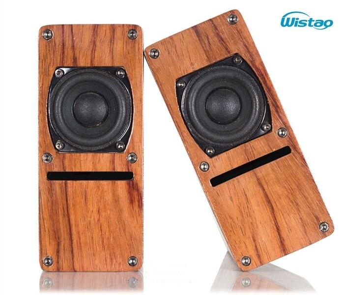 IWISTAO haut-parleur HIFI 2 pouces gamme complète Structure labyrinthe en bois 2X10 W 4 ohms 84dB couleur bois de rose 1 paire Audio stéréo
